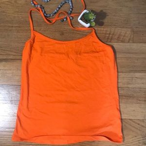 3/$18 Orange halter top